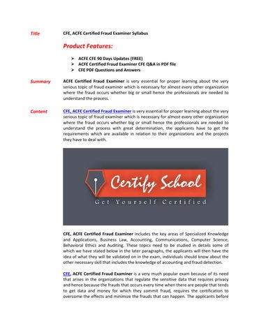 certified fraud examiner manual pdf