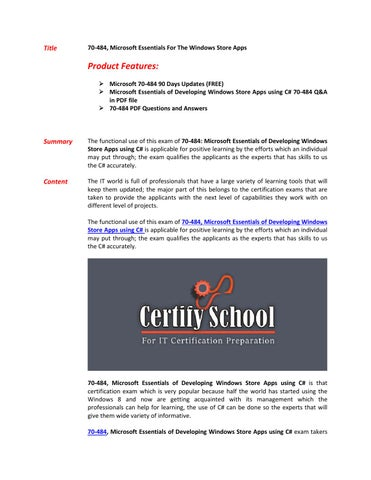 Exam 70-484 Pdf