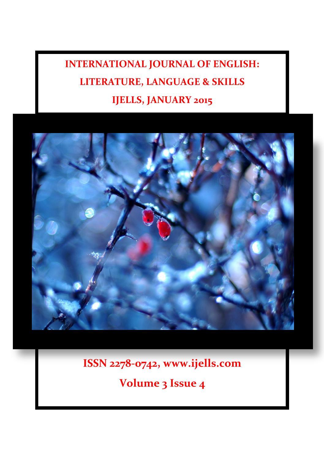 January 2015 by Editor, IJELLS - issuu