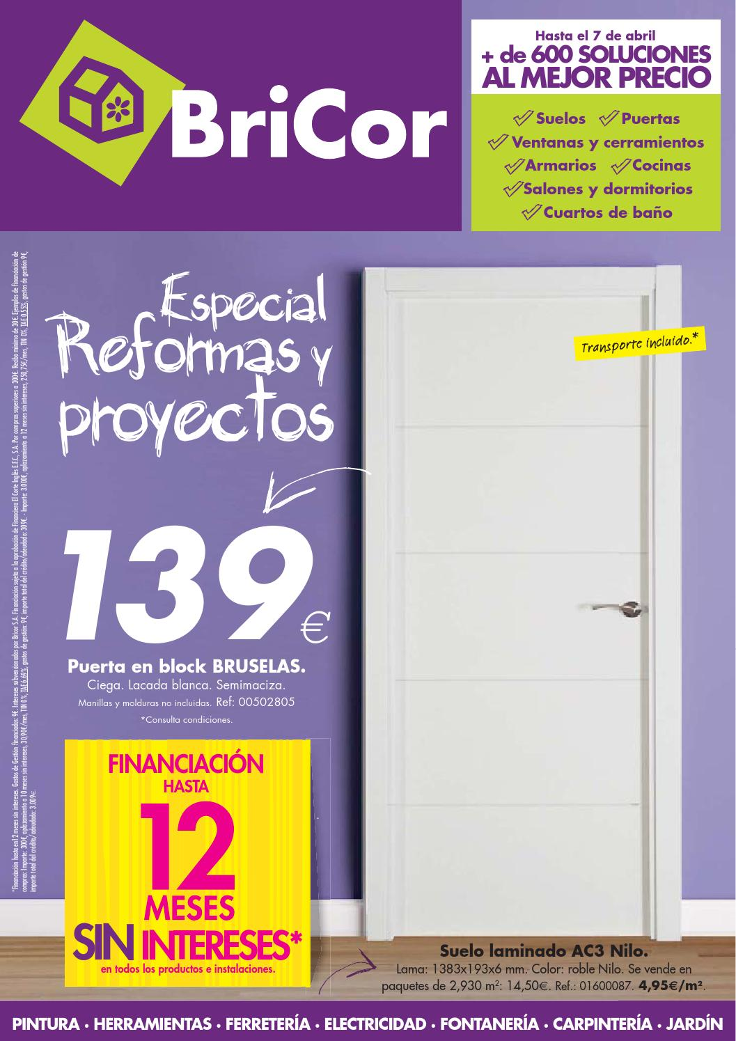 Bricor 7 abril by losdescuentos issuu - Manillas puertas bricor ...