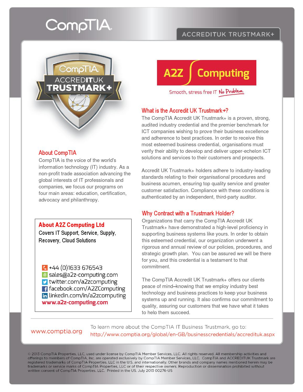 a2z accredit uk it business trustmark flyer by az ashraf issuu