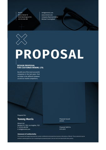 Minimal Design Proposal By Egotype   Issuu  Proposal Cover Page Design