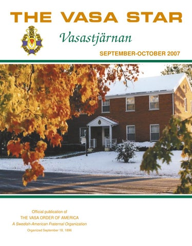 September october 2007 by Vasa Order District 8 - issuu 01eaa811bd655