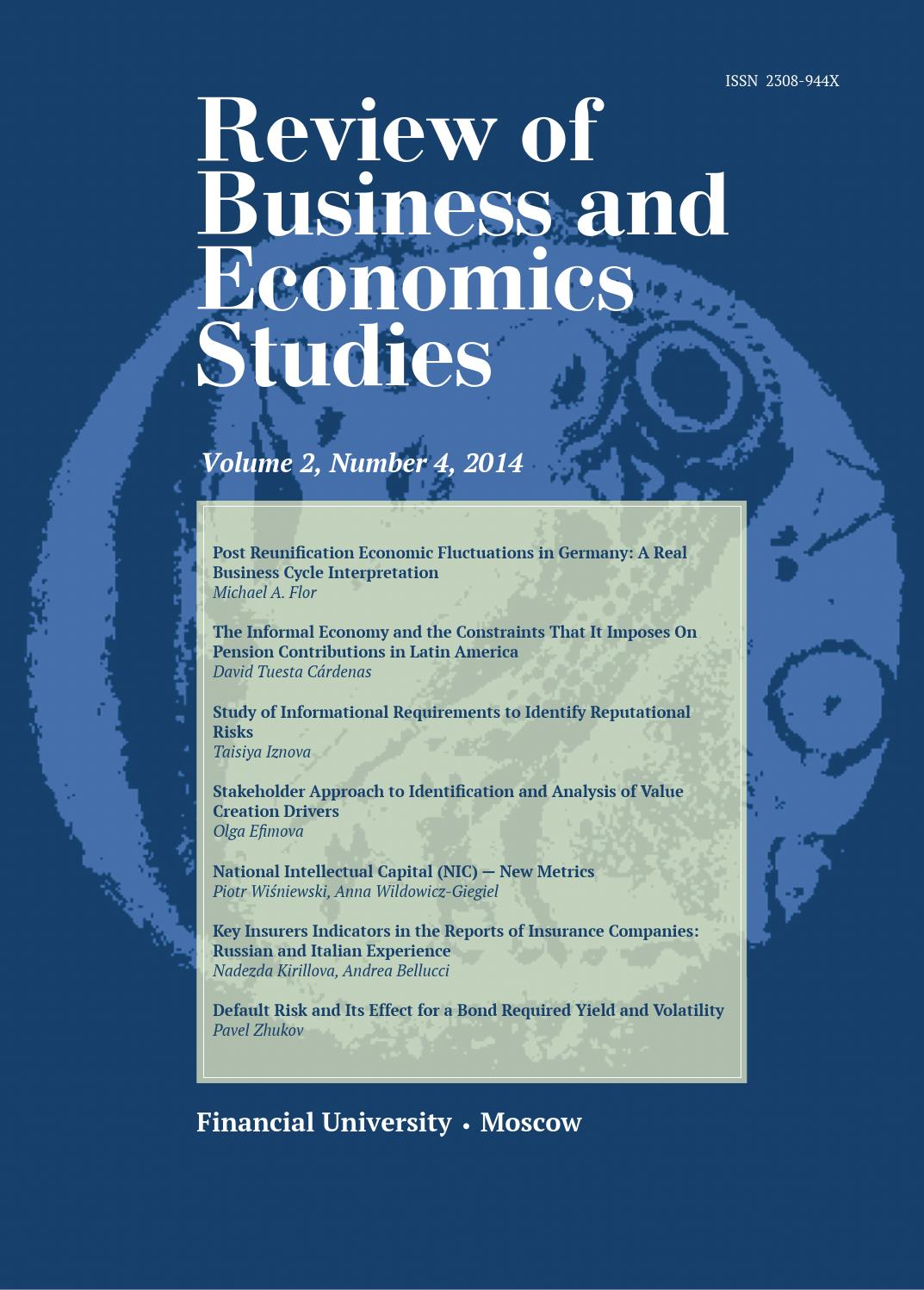 Review of Business and Economics Studies, Vol. 2, Number 4, 2014 by Review  of Business and Economics Studies (ROBES) - issuu