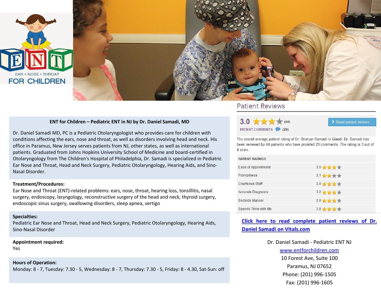 Pediatric ENT NJ by Dr Daniel Samadi by PediatricENT - issuu