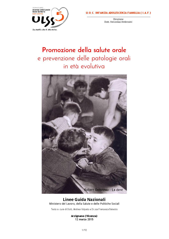 Promozione della salute orale by Giuseppe Balestro - issuu d855d37e0fe