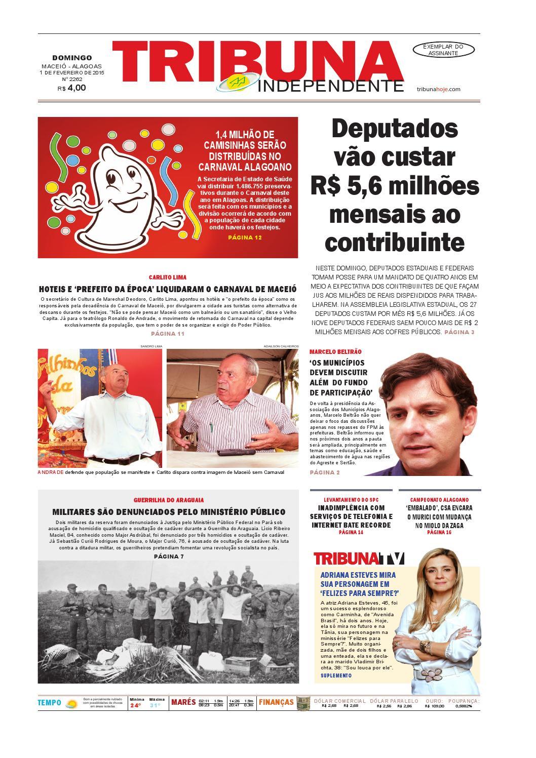 3d959c09527 Edição número 2262 - 1 de fevereiro de 2015 by Tribuna Hoje - issuu