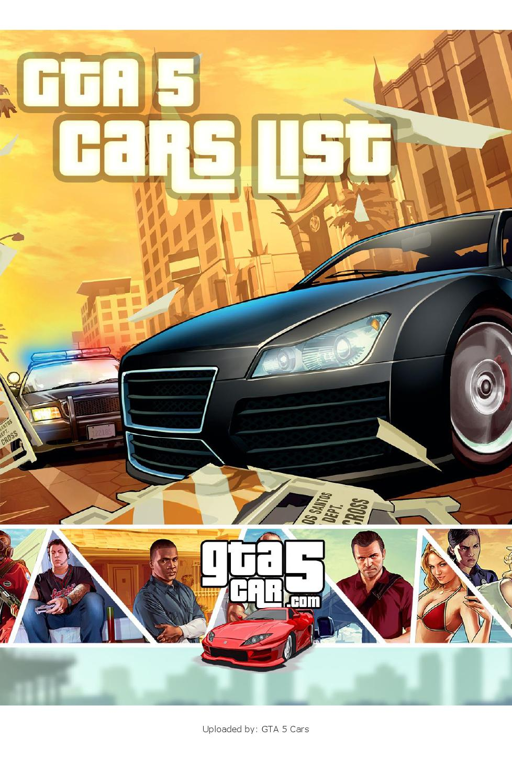 GTA 5 Cars List by GTA 5 Cars - issuu