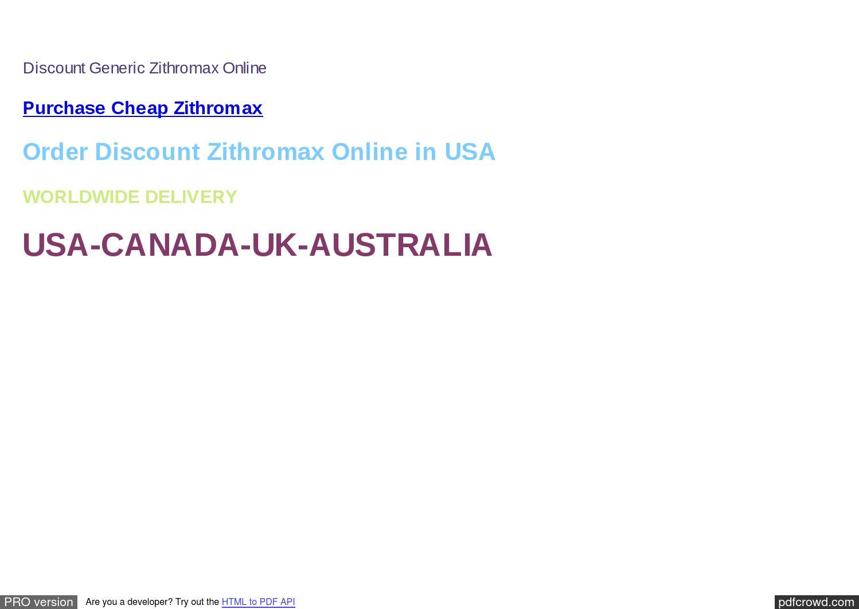 Zithromax online canada