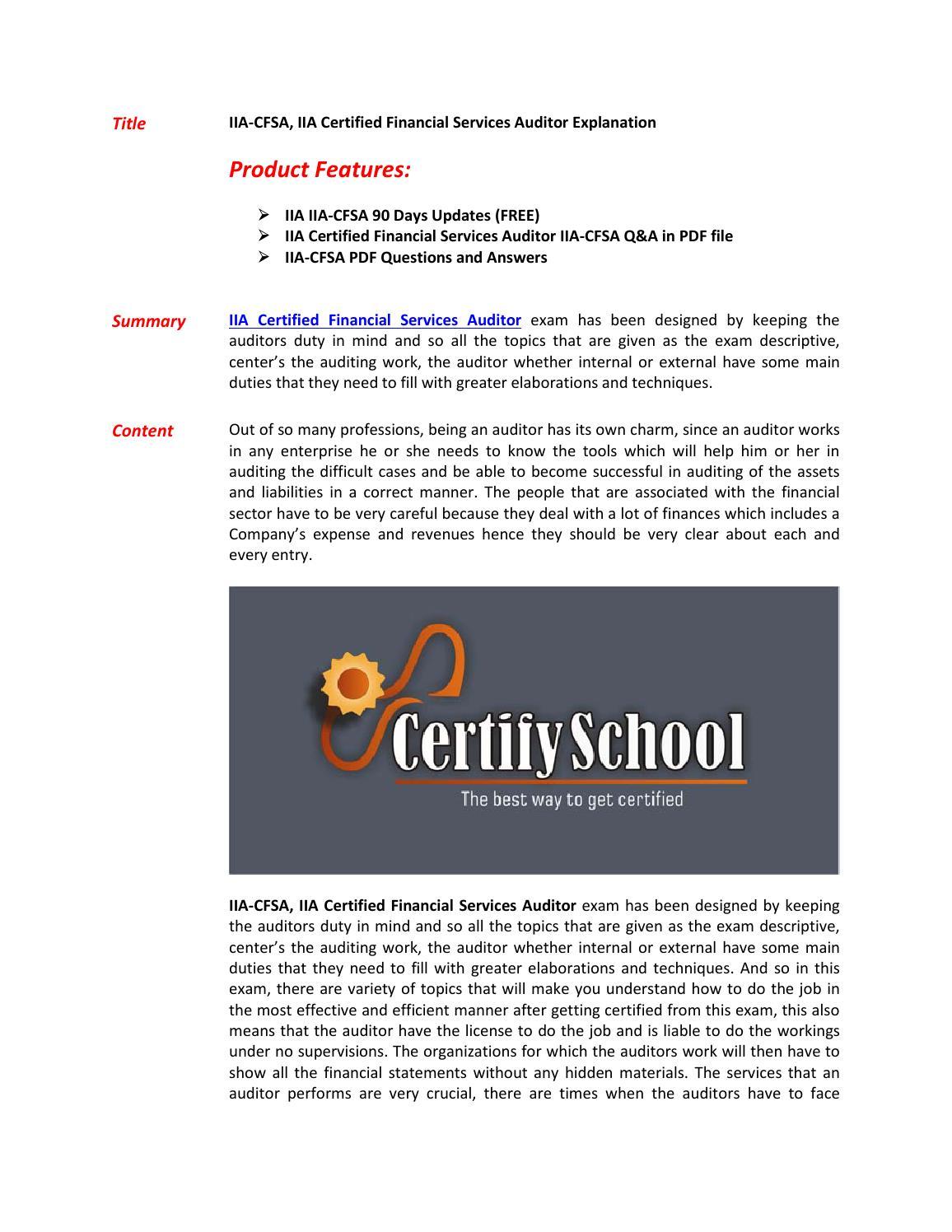 IIA-CFSA Exam Questions & Answers by batmaek - issuu