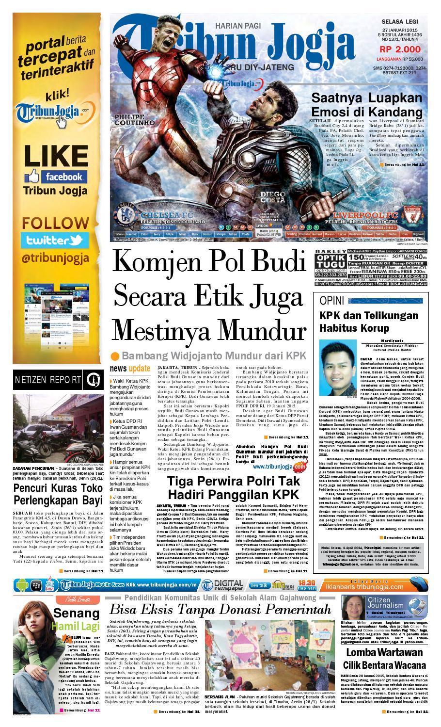 Tribunjogja 27 01 2015 By Tribun Jogja Issuu Fcenter Meja Rias Siantano Mr 905 Jawa Tengahdiyjawa Timur