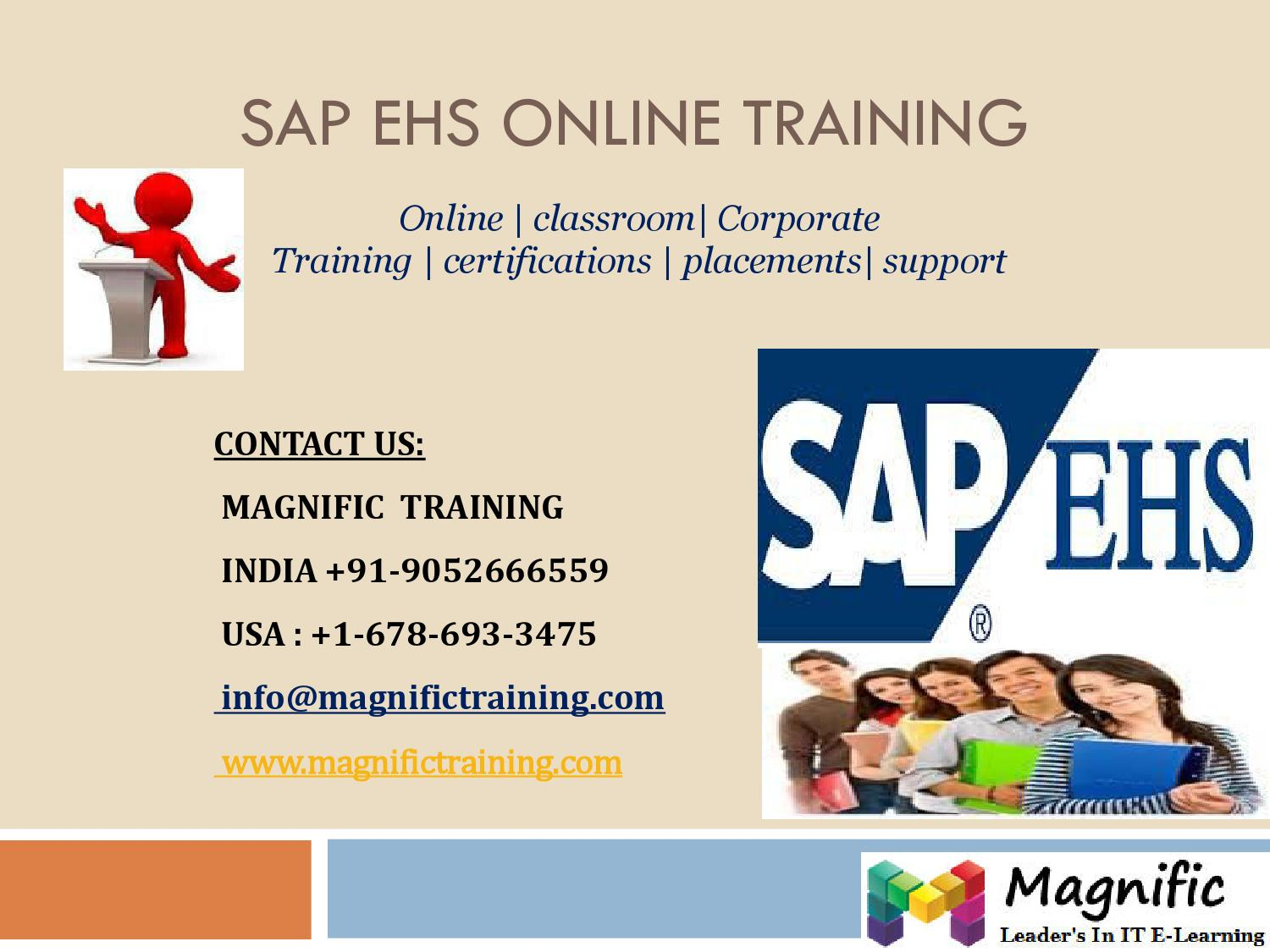 Sap Ehs Online Training In Australia By Magnific More Issuu