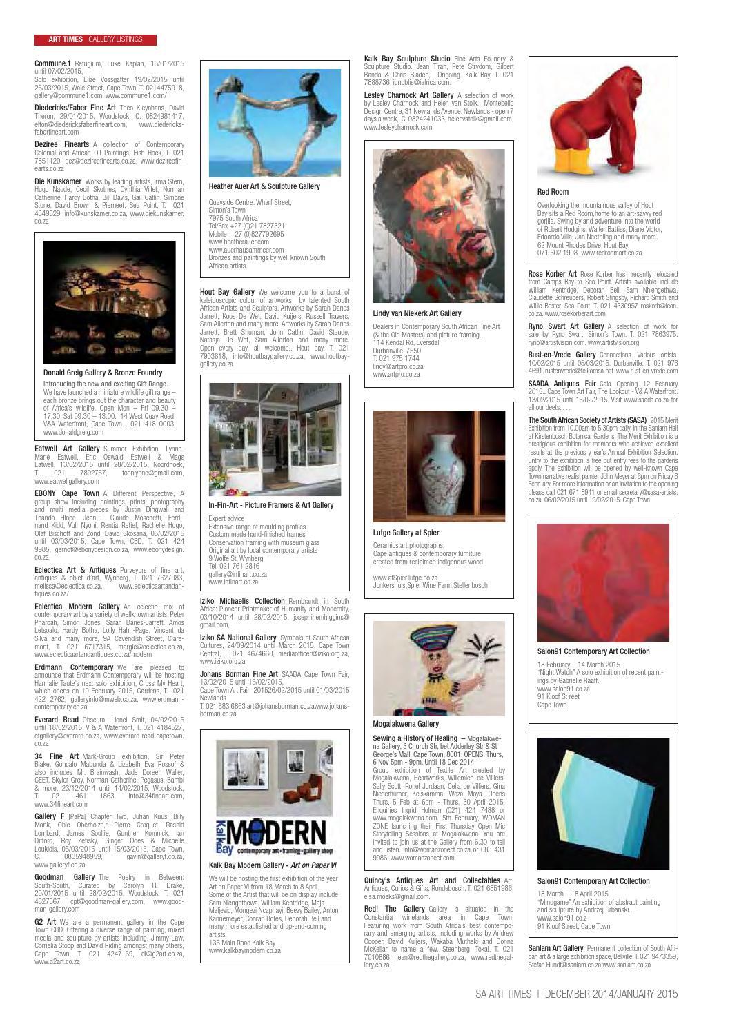 bbbeabc316cc SA Art Times February 2015 by SA ART TIMES - issuu