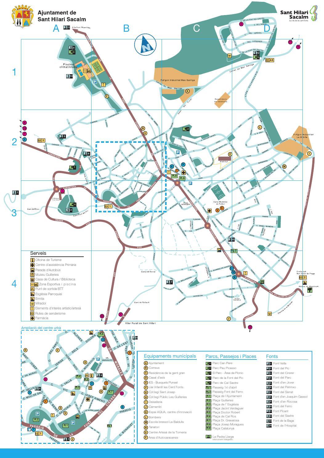 Sant Hilari Sacalm Mapa.Mapa De La Vila De Sant Hilari Sacalm By Narcis