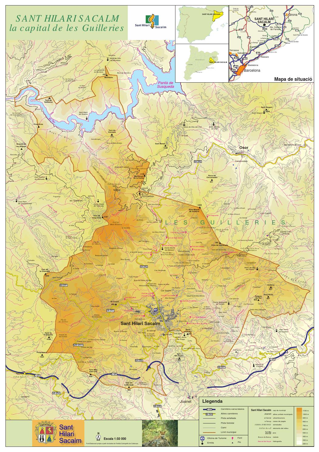 Sant Hilari Sacalm Mapa.Mapa Del Terme De Sant Hilari Sacalm By Narcis Puigderrajols