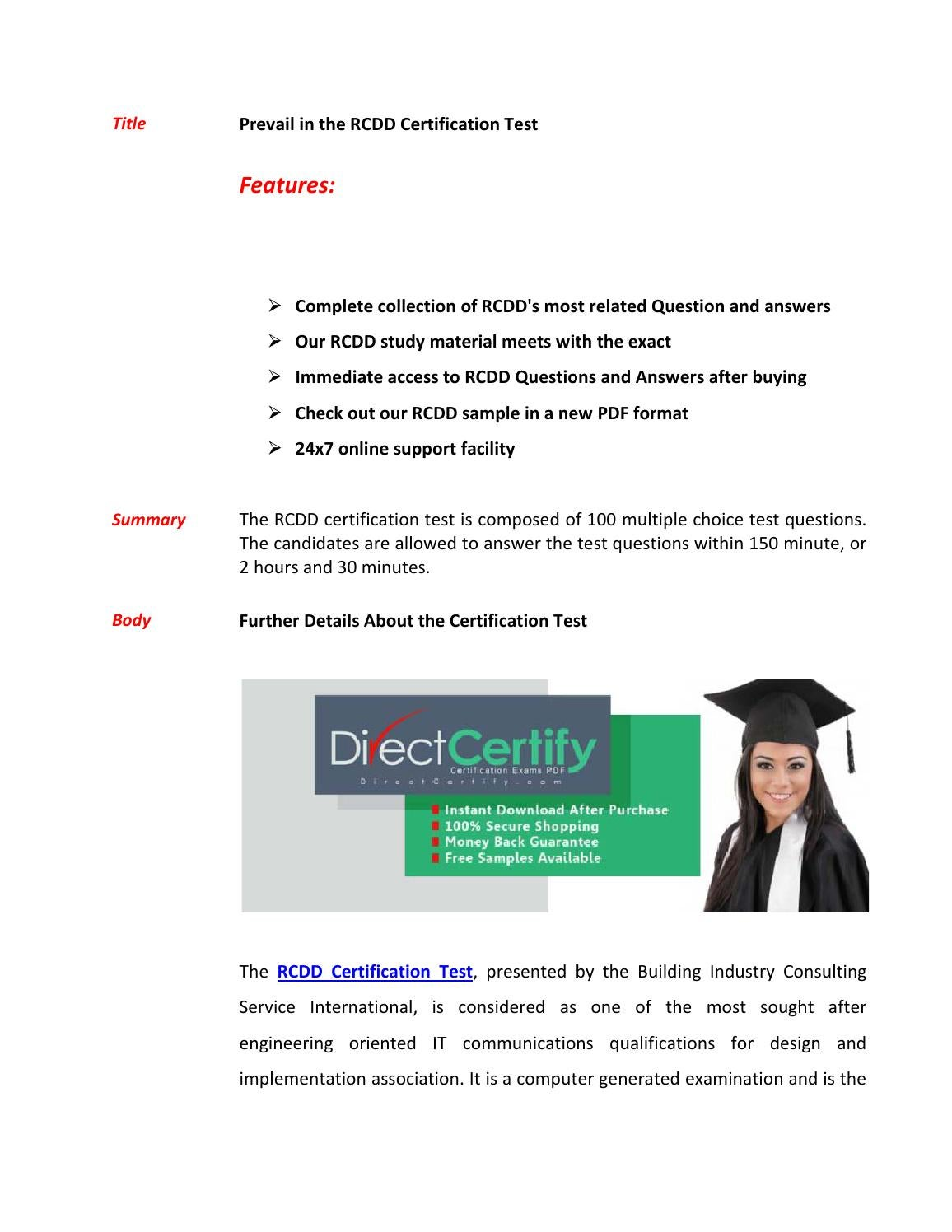 Rcdd Exam Questions Pass In First Attempt By Markwarne Issuu