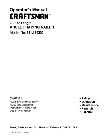 Craftsman Framing Nailer Parts.Hitachi Framing Nail Gun Parts ...