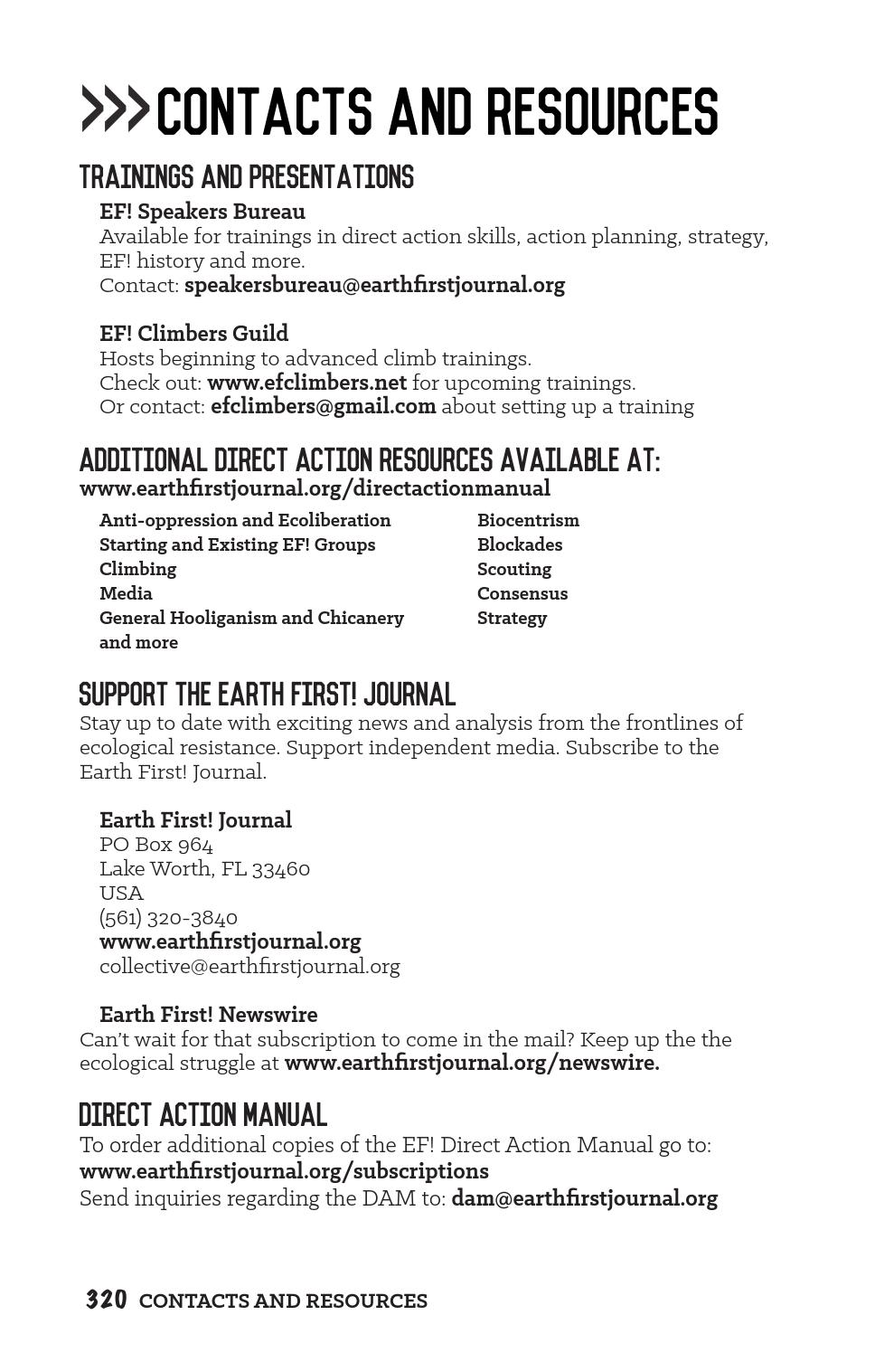 Direct Action Manual, 3rd Edition by Earth First! Journal - issuu