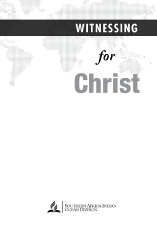 Witnessing For Christ by Adventist Echo - issuu