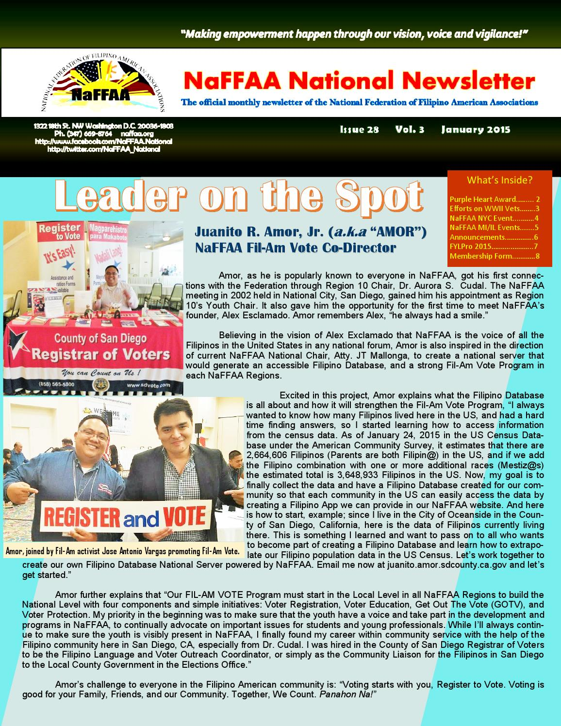 Naffaa National Newsletter January Issue 2015 by Ryan Tejero
