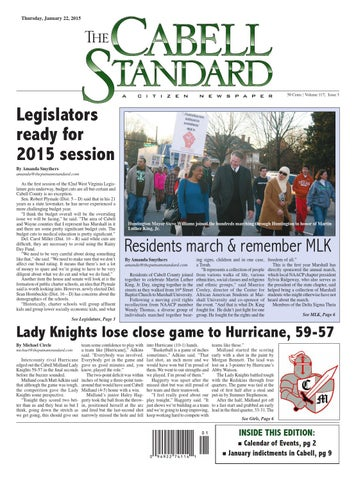 The Cabell Standard Jan. 22, 2015