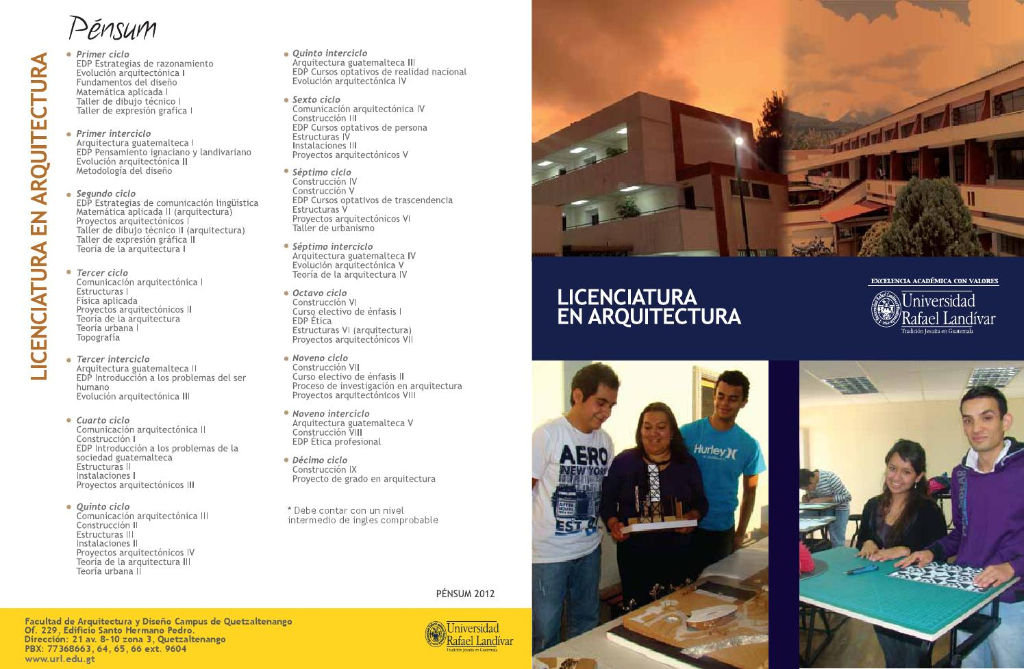 licenciatura en arquitectura by universidad rafael On licenciatura en arquitectura