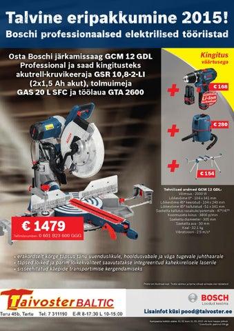 57cc5baccce Osta Boschi järkamissaag GCM 12 GDL Professional ja saad kingitusteks  akutrell-kruvikeeraja GSR 10,8-2-LI (2x1,5 Ah akut), tolmuimeja GAS 20 L  SFC ja ...