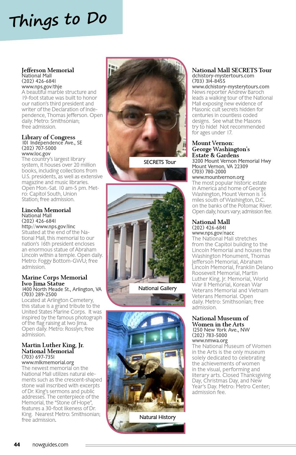 Washington D.C. NOW Visitor Guide Spring 2015 by Essential Media ...