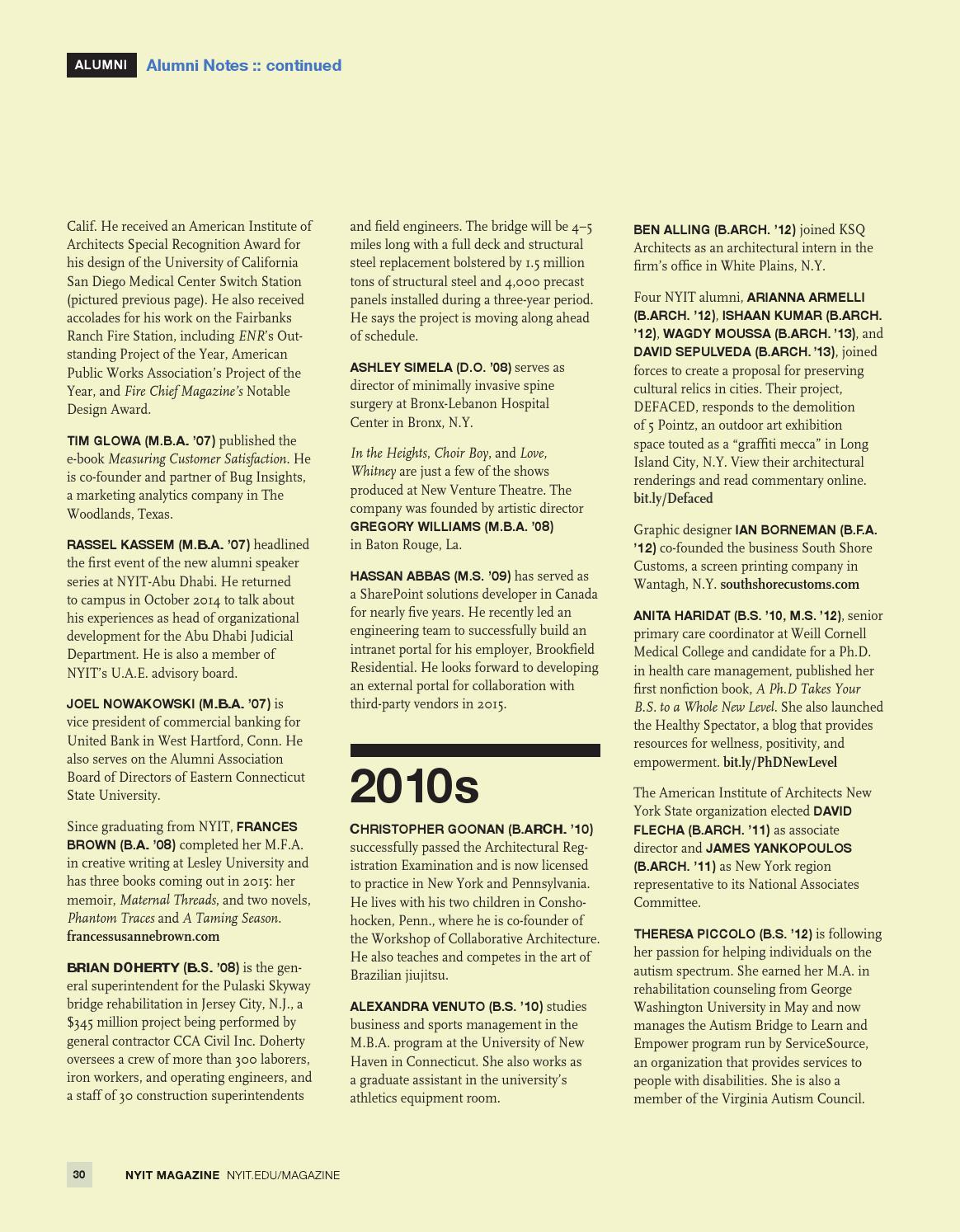 NYIT Magazine Winter 2015 by NYIT Magazine - issuu