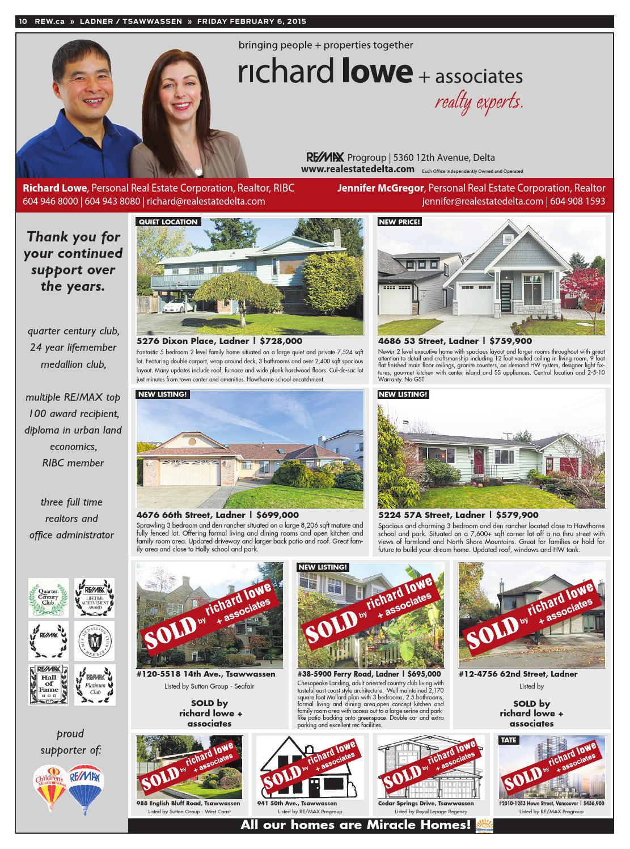 LADNER / TSAWWASSEN Feb 6, 2015 Real Estate Weekly