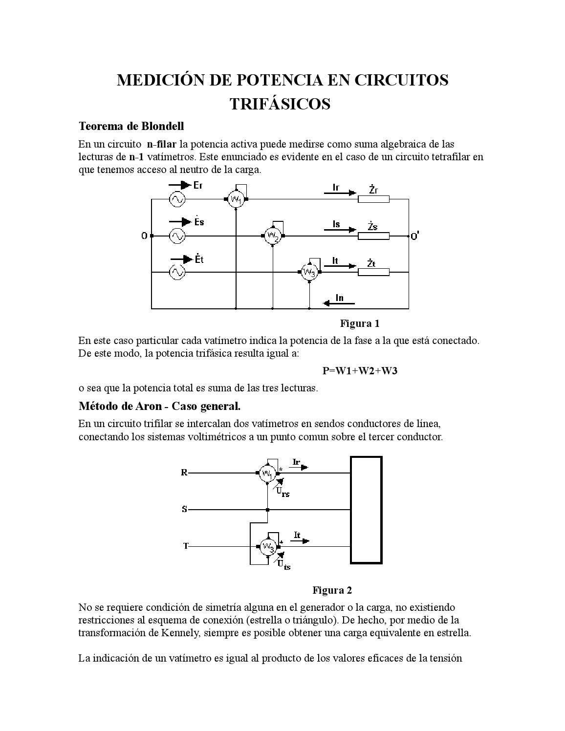 Circuito General : Medición de potencia en circuitos trifásicos doc by jose rodriguez