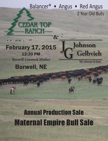 Cedar Top Ranch & Johnson Gelbvieh Annual Production Sale by