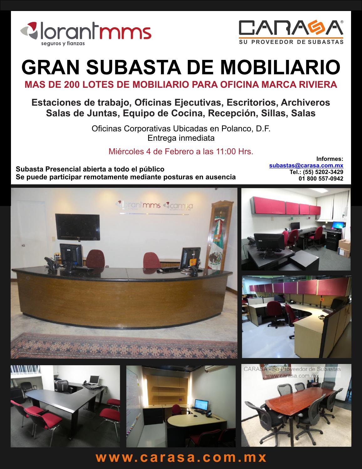 Subasta de mobiliario y equipo de oficina lorantmms by for Mobiliario y equipo de cocina