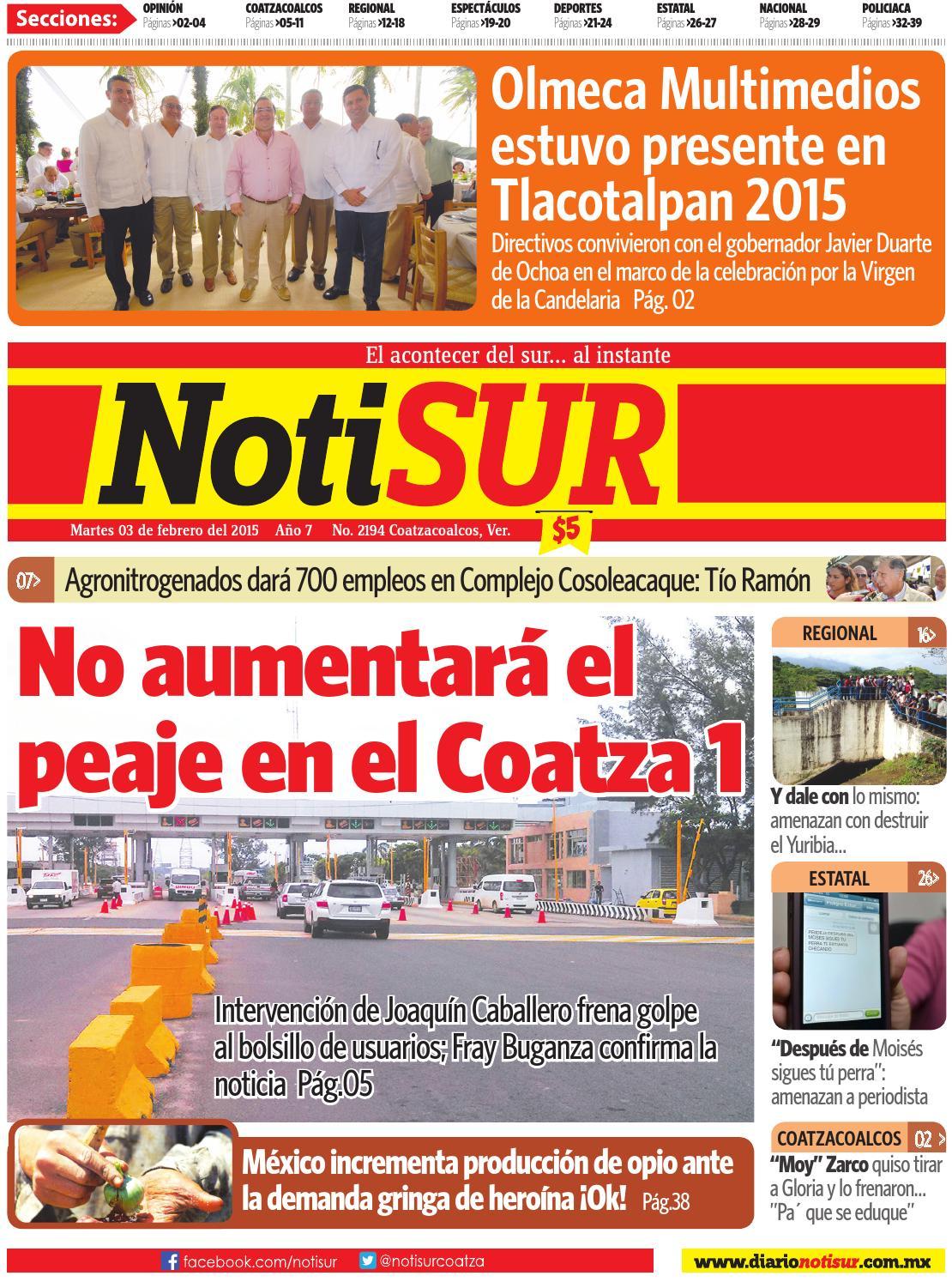 Notisur 03 De Febrero 2015 By Diario Notisur Coatzacoalcos 2015  # Muebles Buganza
