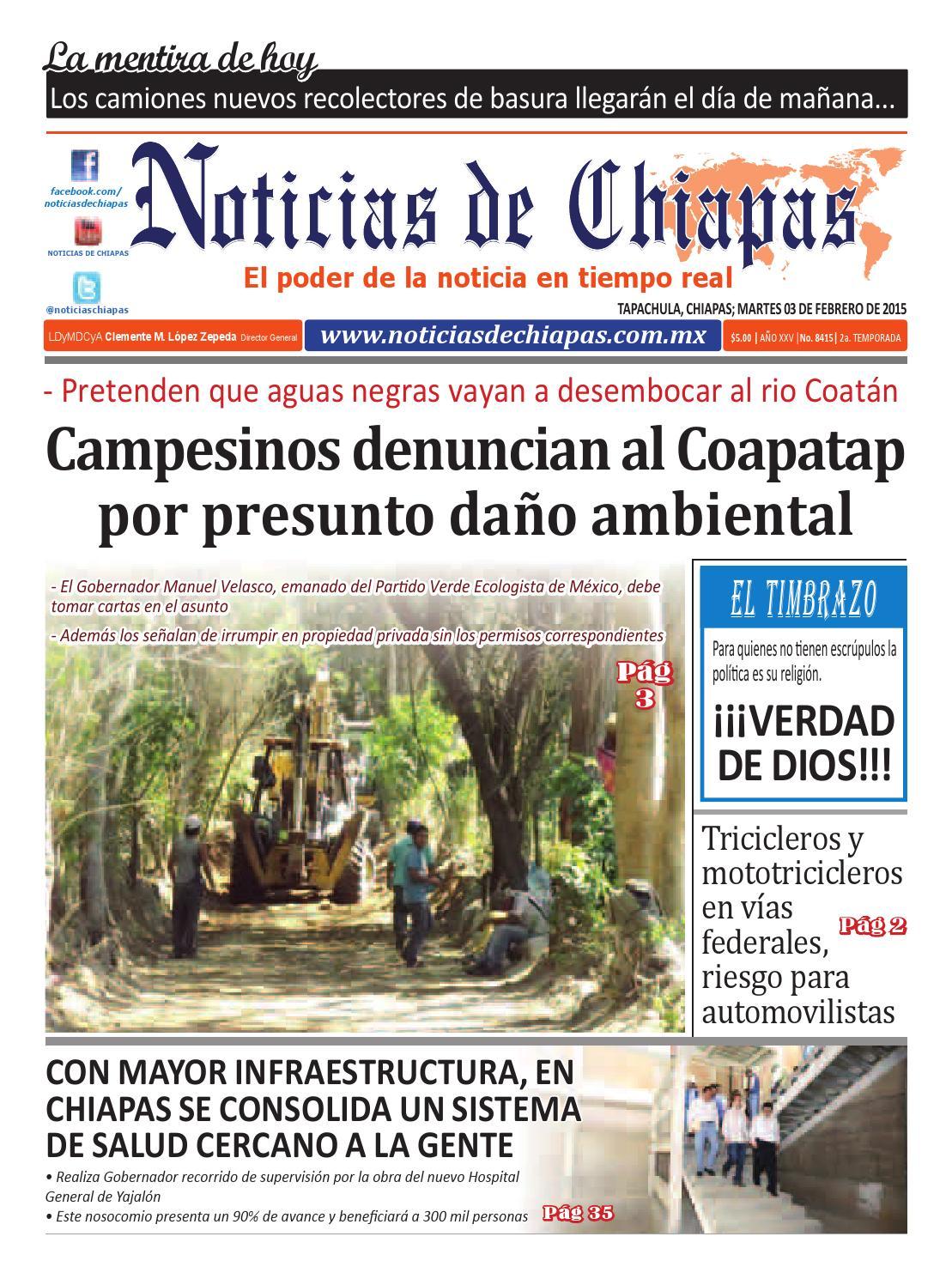 Peri Dico Noticias De Chiapas Edici N Virtual 03 Febrero