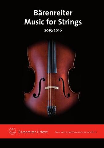 Music For Strings 20152016 By Baerenreiter Issuu