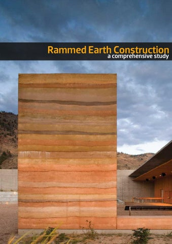 Rammed Earth Construction By Akash Garg Issuu