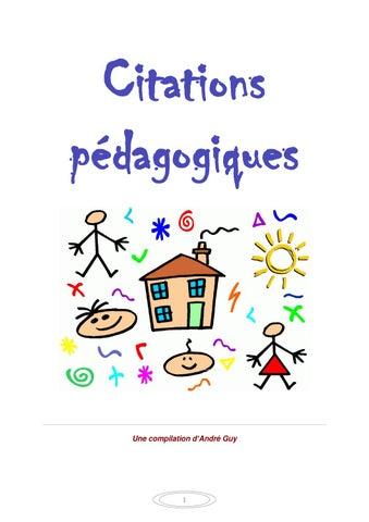 Citations Pédagogiques By Andy Julien Issuu