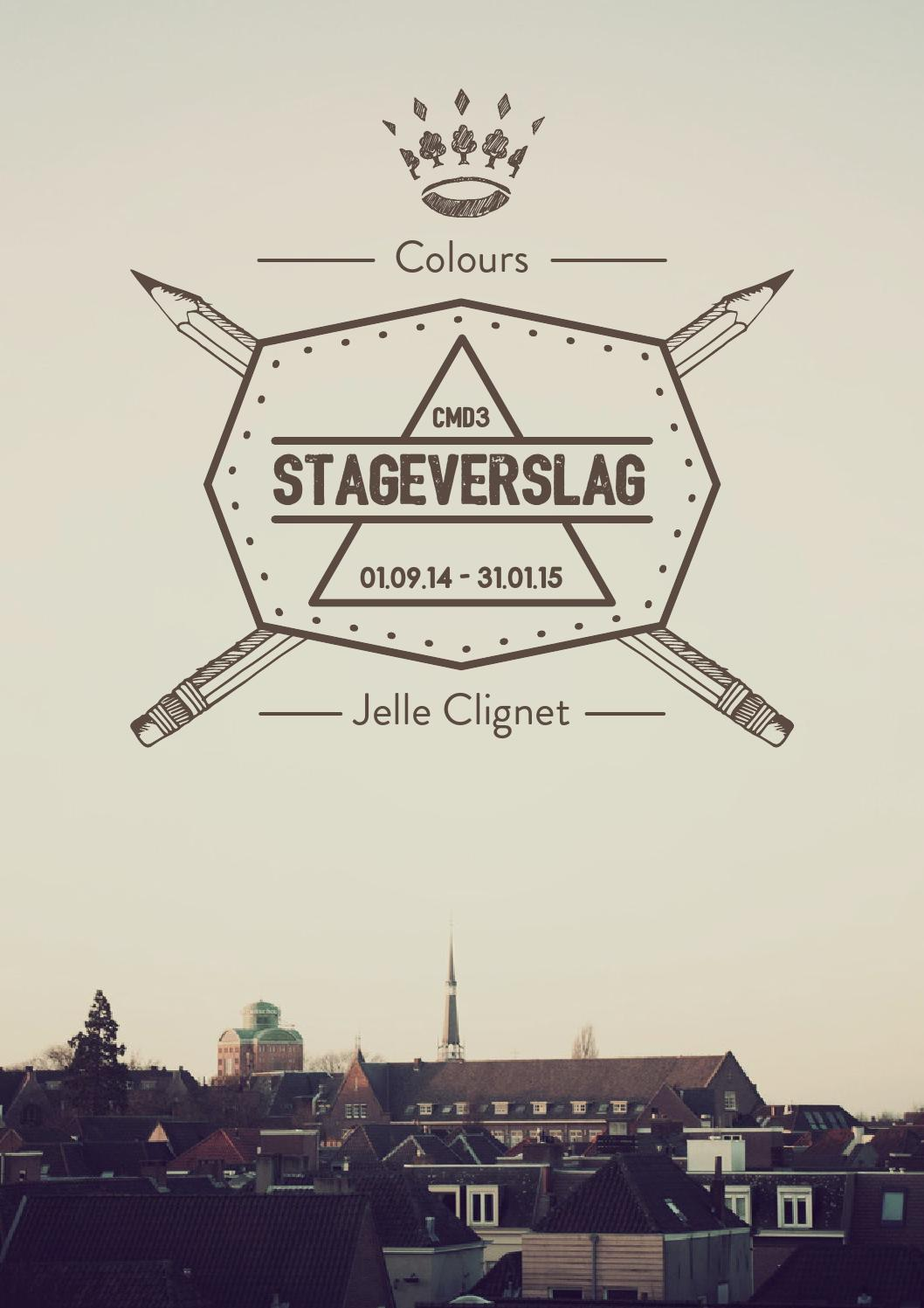 Stageverslag Colours by Jelle Clig  issuu