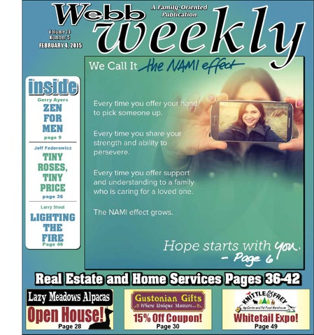 Webb weekly february 4 2015 by webb weekly issuu page 1 fandeluxe Image collections