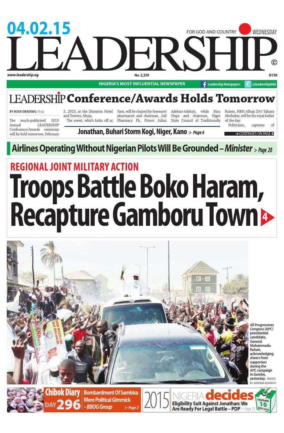 leaderaship news by leadership newspaper - issuu