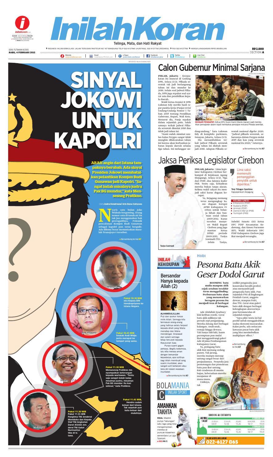 SINYAL JOKOWI UNTUK KAPOLRI by inilah koran - issuu 7e8e22e8c9