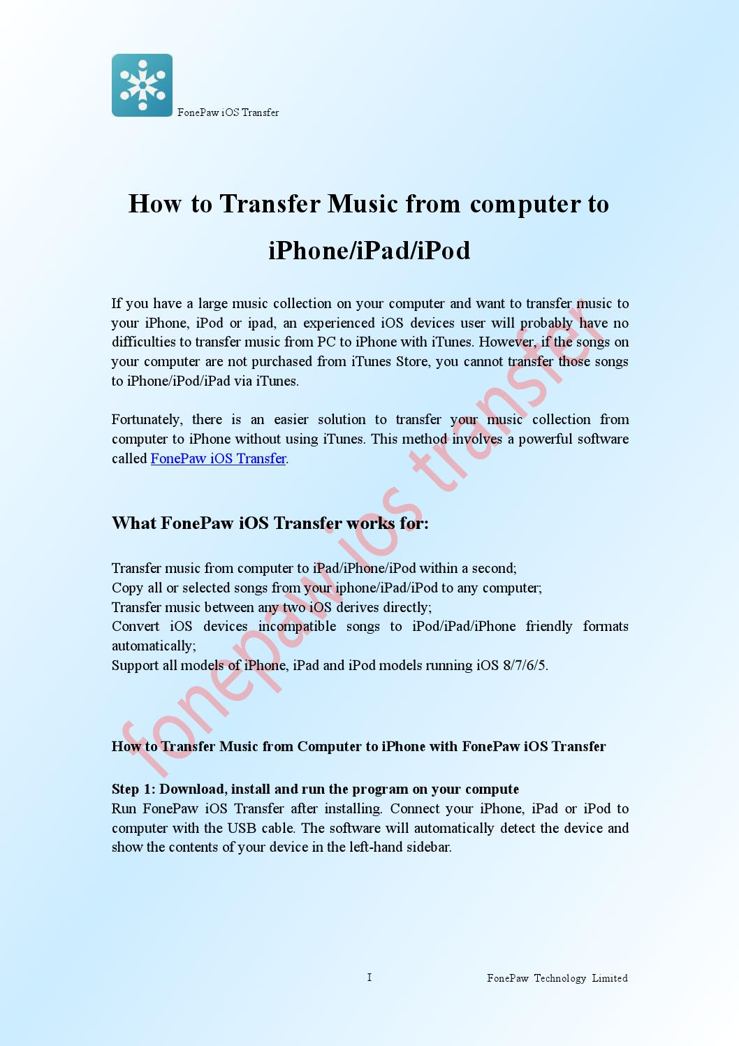 How to Transfer Music from Computer to iPhone by Fitch Gavin - issuu