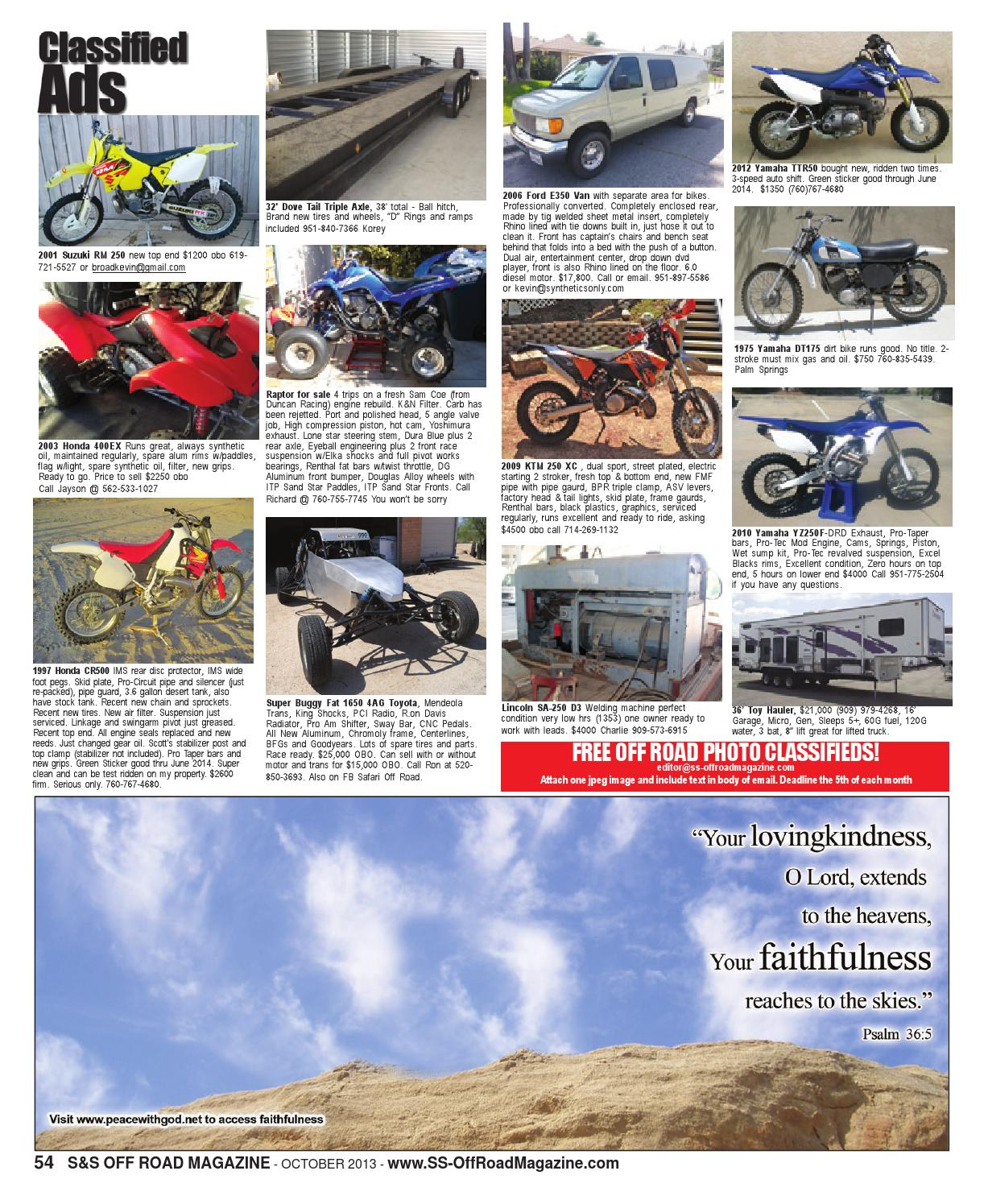 S&S Off Road Magazine October 2013 by S&S Off Road Magazine