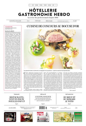 HG Hebdo 3 2015 By Hotellerie Gastronomie Verlag