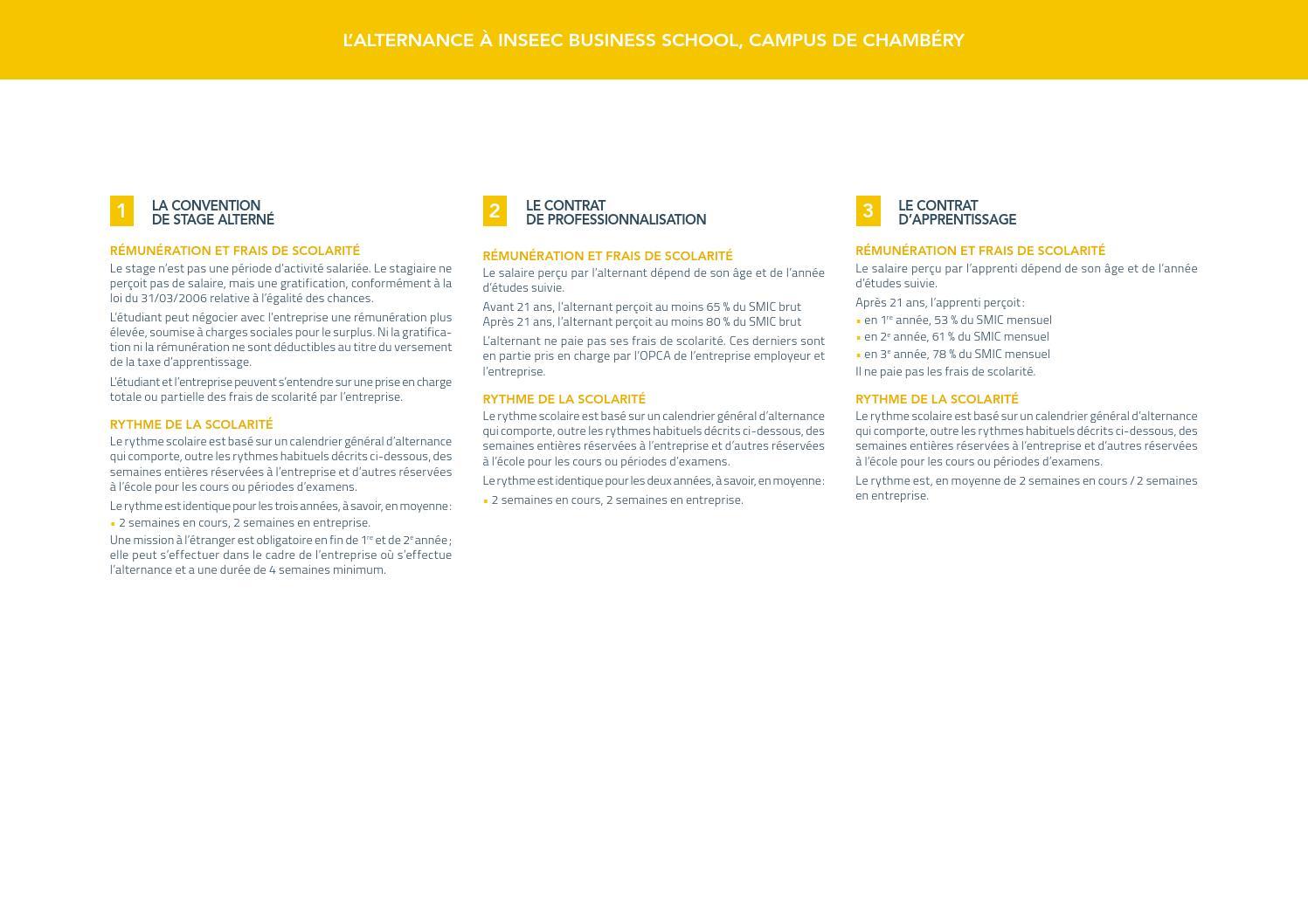 Inseec Business School Cursus En Alternance By O Et D Issuu