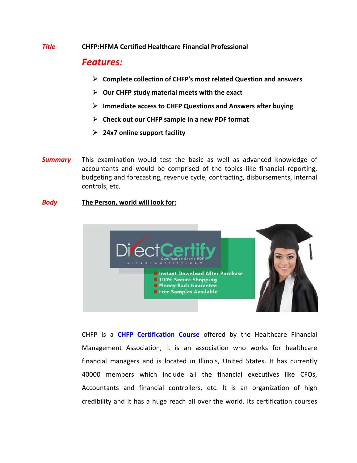 Chfp exam questions answers by markwarne issuu xflitez Images