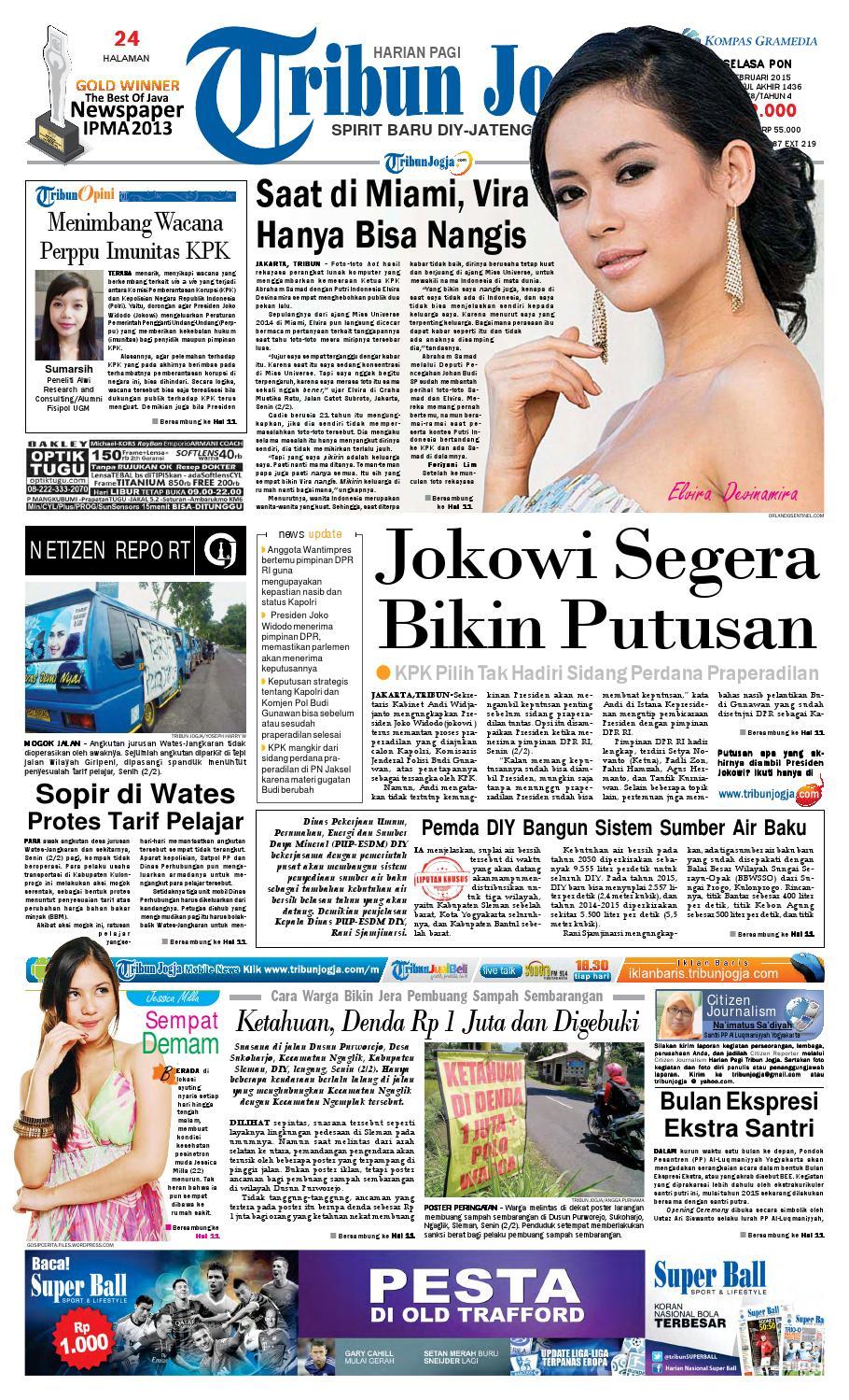 Tribunjogja 03 02 2015 By Tribun Jogja Issuu Produk Ukm Bumn Ci Embul Tahu Bakso 250g Original Free Ongkir Depok Ampamp Jakarta
