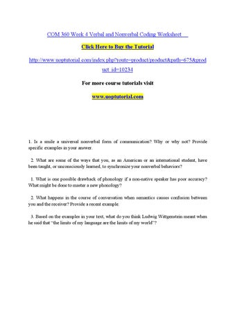 verbal and nonverbal coding worksheet Option 1 nonverbal worksheet answer key non-verbal communication  worksheet 1 name the 6 functions of non-verbal communication repeat.