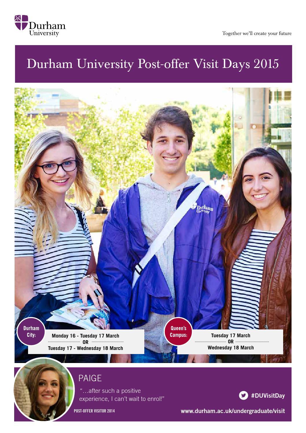 Durham university post offer visit day full guide by - Durham university international office ...